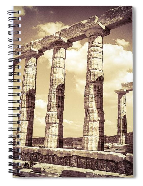 The Beauty Of The Temple Of Poseidon Spiral Notebook