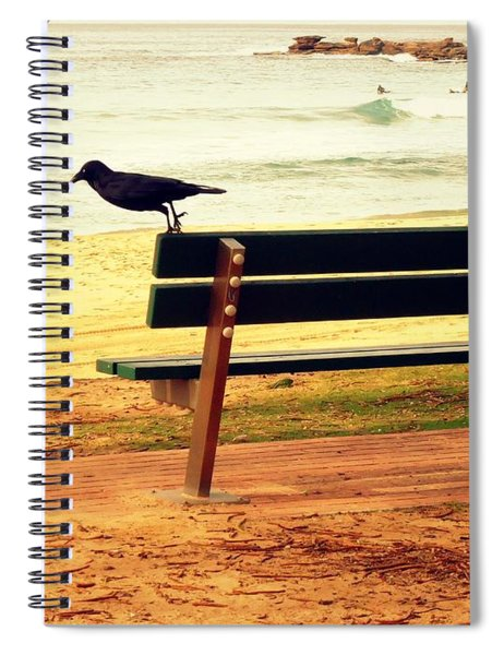 The Bench And The Blackbird Spiral Notebook