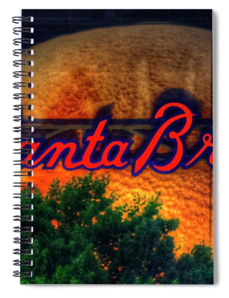 The Big Ball Atlanta Braves Baseball Signage Art Spiral Notebook