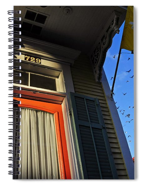Spiral Notebook featuring the photograph The Birds by Skip Hunt