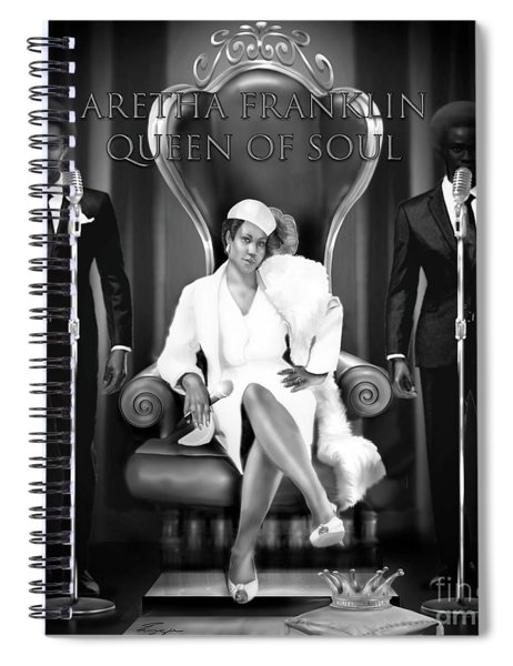 The Black And White Of Aretha Franklin Is The Queen Of Soul Spiral Notebook