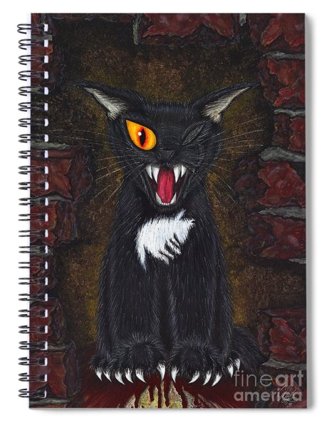 The Black Cat Edgar Allan Poe Spiral Notebook