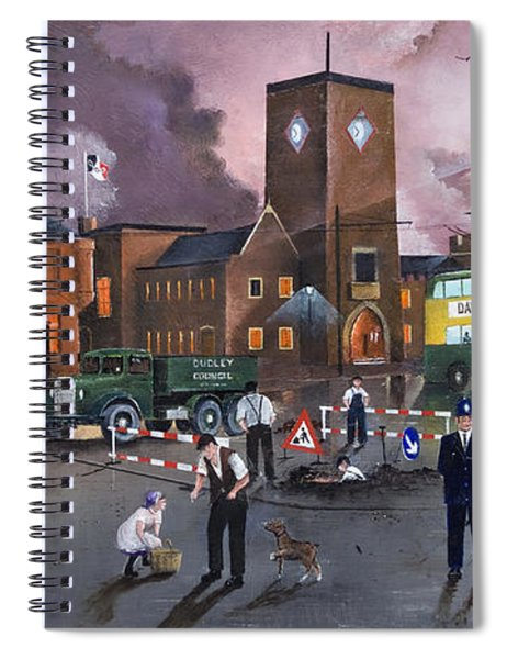 Dudley Trolley Bus Terminus 1950's Spiral Notebook