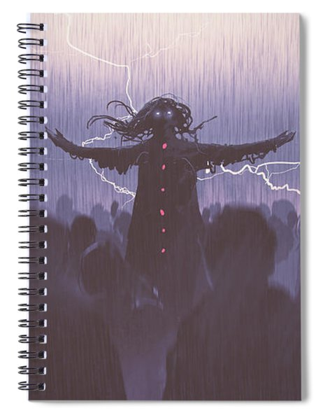 The Black Wizard Spiral Notebook