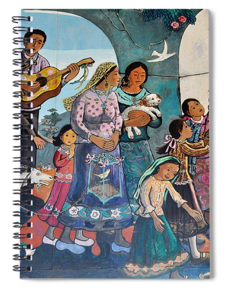 The Blessing Of Animals Olvera Street Spiral Notebook