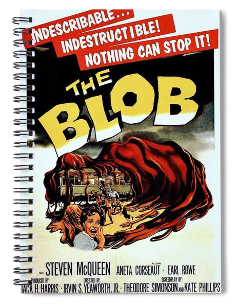 Spiral Notebook featuring the photograph The Blob  by Movie Poster Prints