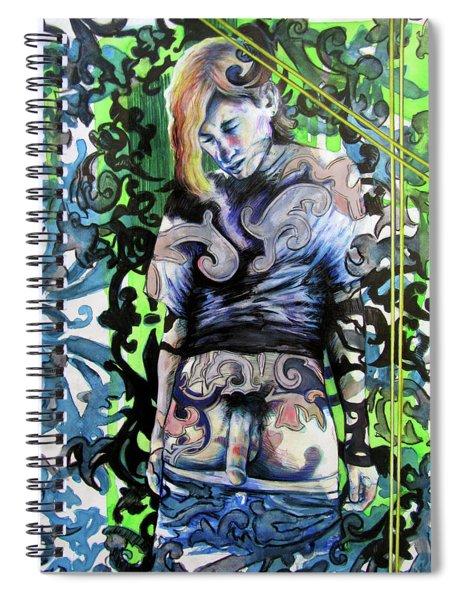 The Blond Bomber  Spiral Notebook