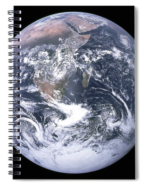 The Blue Planet - The Blue Marble  By Apollo 17 Spiral Notebook