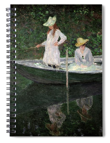 The Boat At Giverny Spiral Notebook