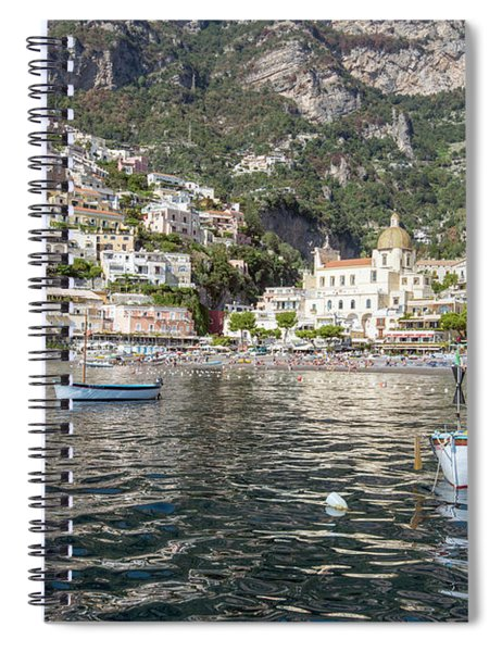 The Boats Of Positano  Spiral Notebook