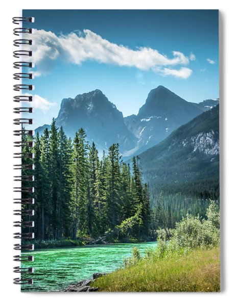 The Bow River At Canmore Spiral Notebook