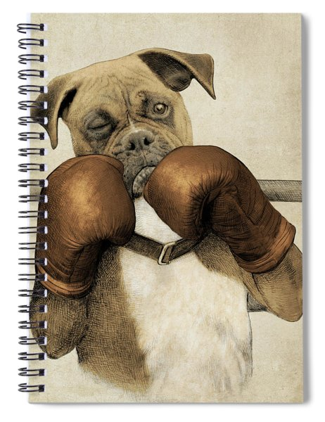 The Boxer Spiral Notebook by Eric Fan