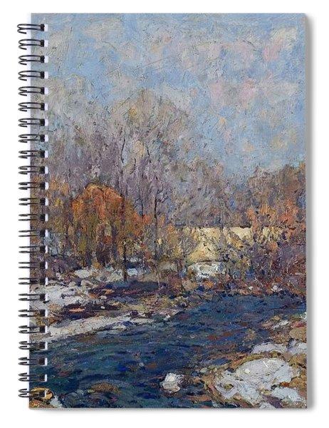 The Bridge  Garfield Park  By William J  Forsyth Spiral Notebook