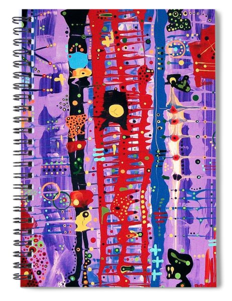 The Bright Red Ladder To Success Spiral Notebook