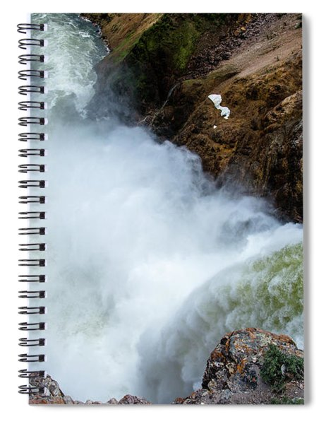 The Brink Of The Lower Falls Of The Yellowstone River Spiral Notebook