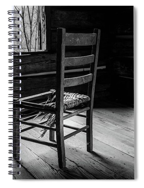 Spiral Notebook featuring the photograph The Broken Chair by Doug Camara