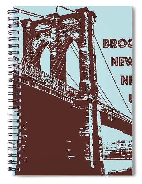 The Brooklyn Bridge, New York, Ny Spiral Notebook