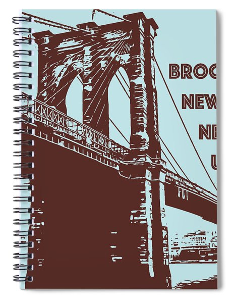 The Brooklyn Bridge, New York, Ny Spiral Notebook