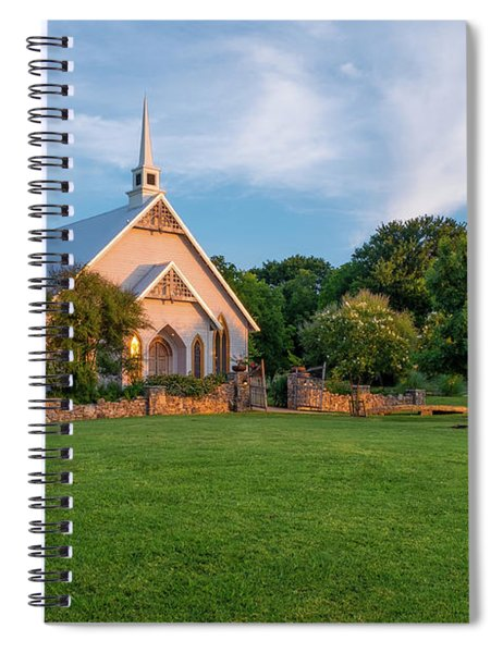 Spiral Notebook featuring the photograph The Brooks At Weatherford Wedding Chapel by Robert Bellomy
