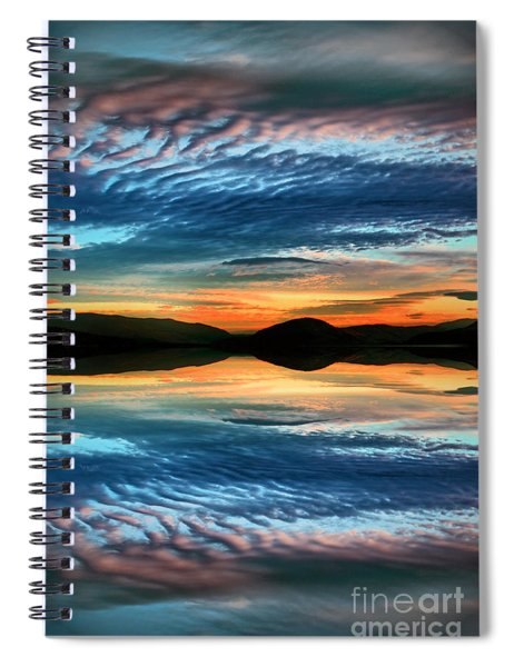 The Brush Strokes Of Evening Spiral Notebook
