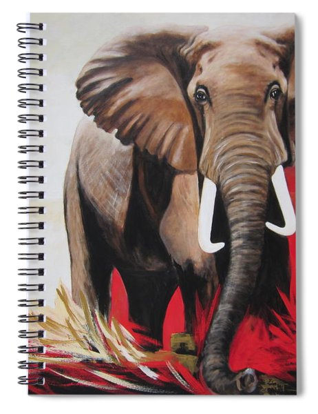 Win Win - The  Bull Elephant  Spiral Notebook