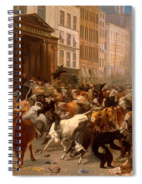 The Bulls And Bears In The Market Spiral Notebook