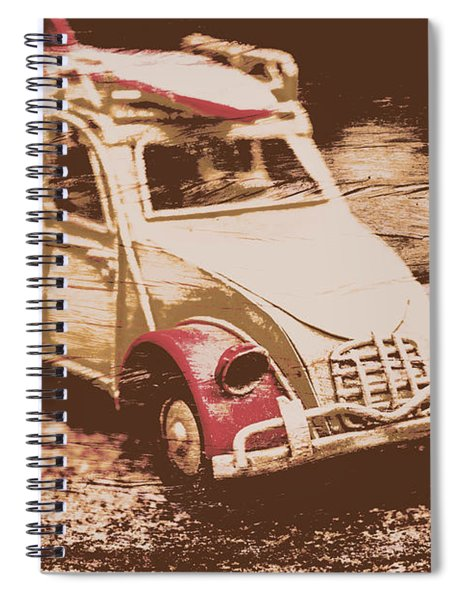 The Bygone Surfing Holiday Spiral Notebook