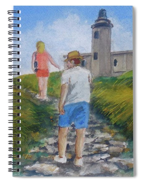 The Cabo Rojo Light House In Puerto Rico Spiral Notebook