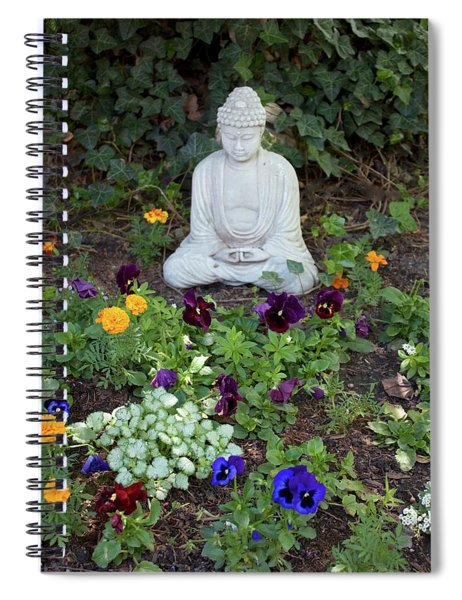 Spiral Notebook featuring the pyrography The Calm by Michael Lucarelli