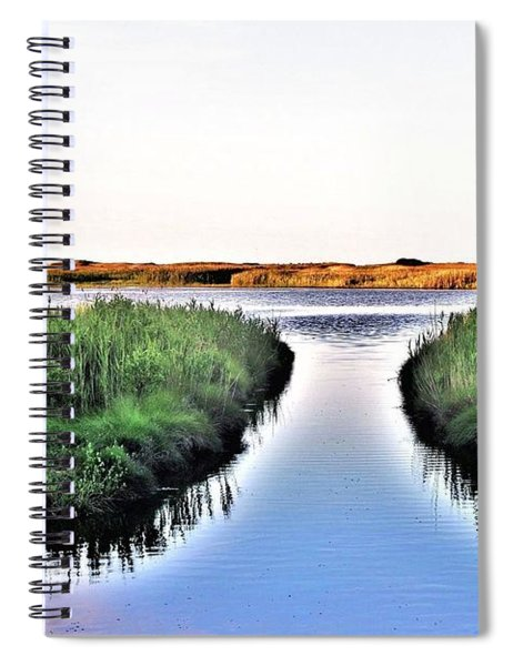 The Canal At Gordon's Pond Spiral Notebook
