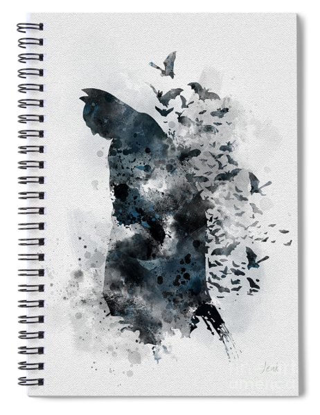 The Caped Crusader Spiral Notebook
