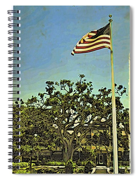 The Casements Flag Flying Spiral Notebook