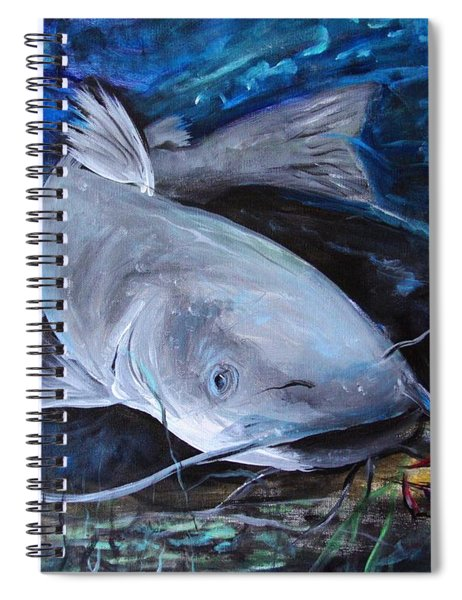 The Catfish And The Crawdad Spiral Notebook