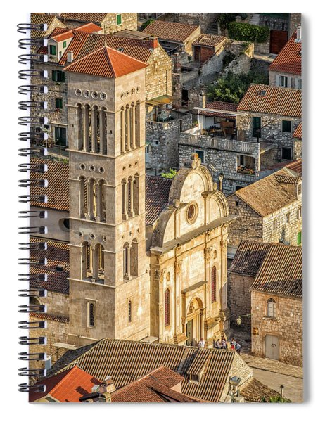 The Cathedral Of St. Stephan In Hvar, Croatia Spiral Notebook