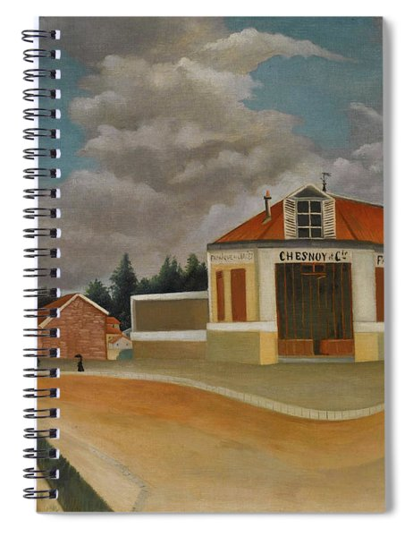 The Chairs Factory At Alfortville Spiral Notebook