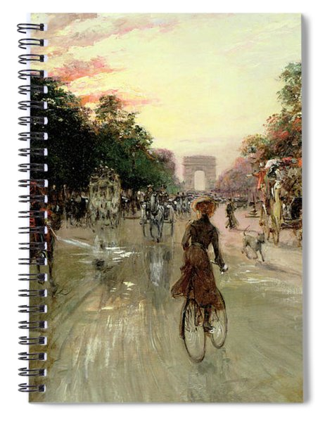 The Champs Elysees - Paris Spiral Notebook