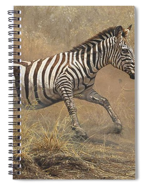 Spiral Notebook featuring the painting The Chase by Alan M Hunt