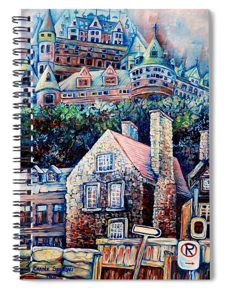 The Chateau Frontenac Spiral Notebook