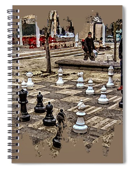 The Chess Match In Portland Spiral Notebook
