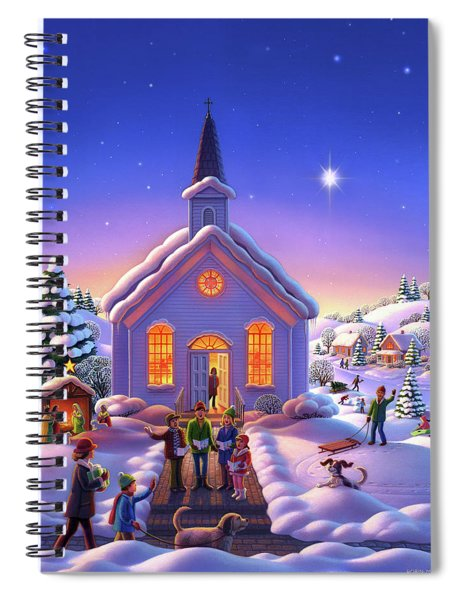 The Christmas Carolers Spiral Notebook