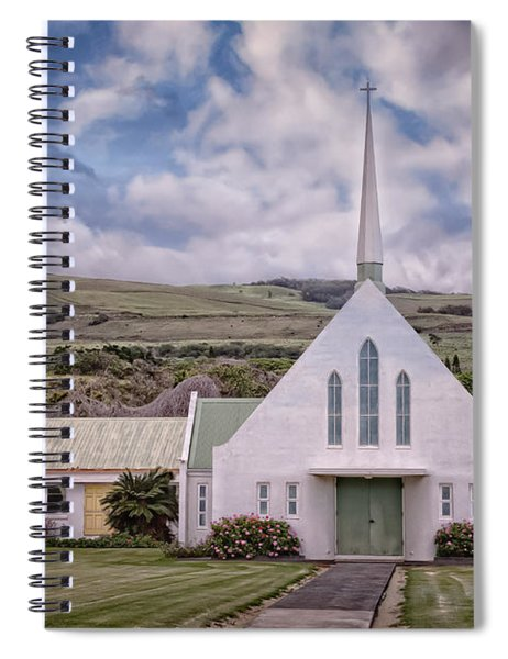 Spiral Notebook featuring the photograph The Church by Jim Thompson