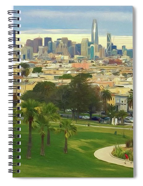 The City From Dolores Park Spiral Notebook