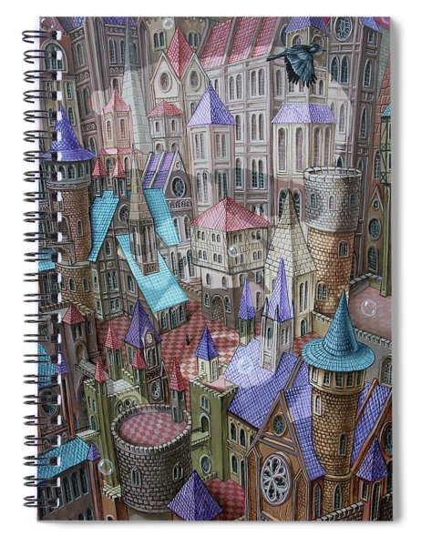 The City Of Crow Spiral Notebook
