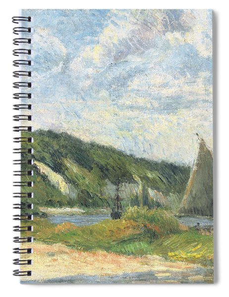 The Cliffs Of La Bouille Spiral Notebook