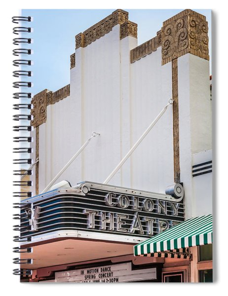 The Colony Theatre Spiral Notebook by Ed Gleichman