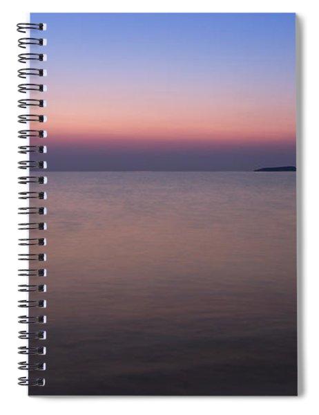Dawn At The Mediterranean Sea Spiral Notebook