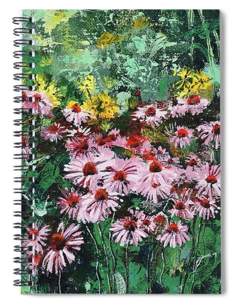 Coneflowers  Garden Spiral Notebook
