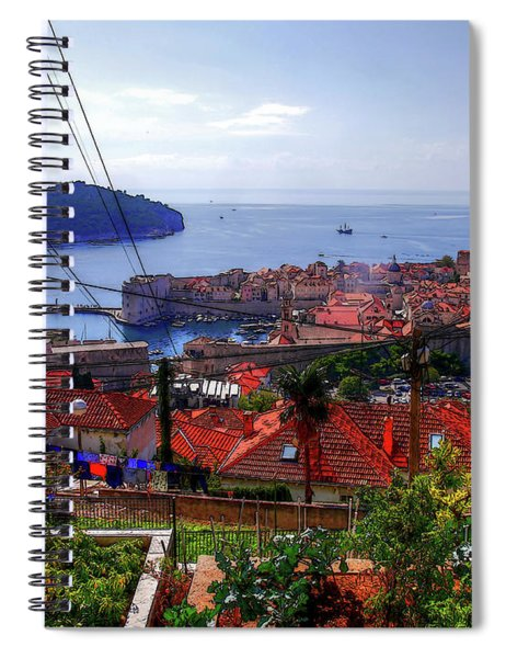 The Colourful City Of Dubrovnik Spiral Notebook
