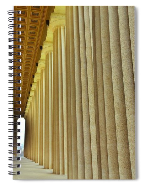 The Columns At The Parthenon In Nashville Tennessee Spiral Notebook