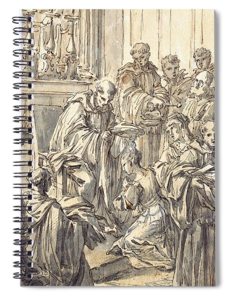 The Consecration Of Saint Juliana Falconieri Spiral Notebook